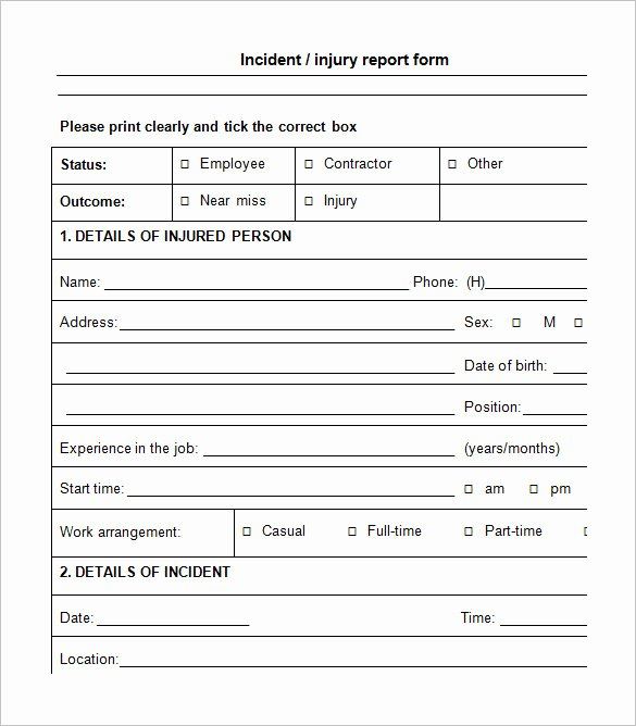Workplace Incident Report form Template Free Fresh 14 Employee Incident Report Templates Pdf Doc