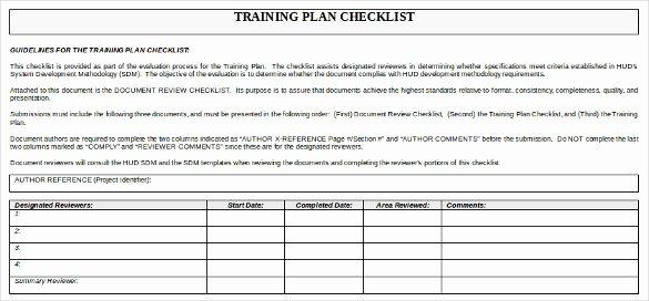 Workshop Planning Checklist Inspirational Training Checklist Template 19 Free Word Excel Pdf