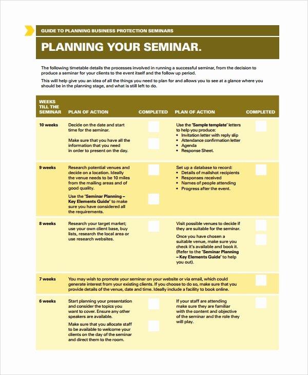 Workshop Planning Checklist Lovely 8 Seminar Planning Templates