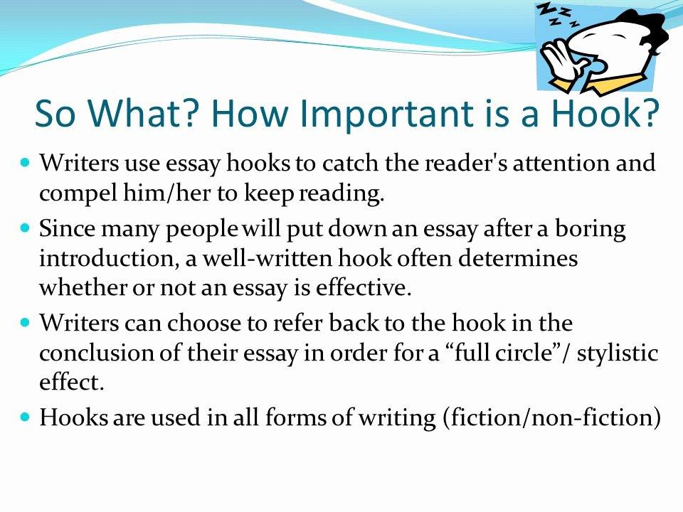 Writing Good Hooks Worksheet Best Of 55 Hook Sentences for Essays attention Grabber Essay