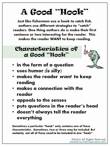 Writing Good Hooks Worksheet Unique Make It Interesting for the Reader A Simple Writing