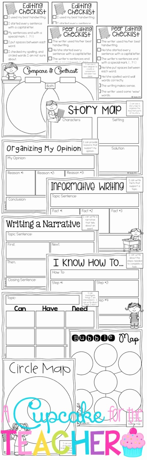 Writing Process Worksheet Pdf Fresh A Cupcake for the Teacher Writing Process Posters