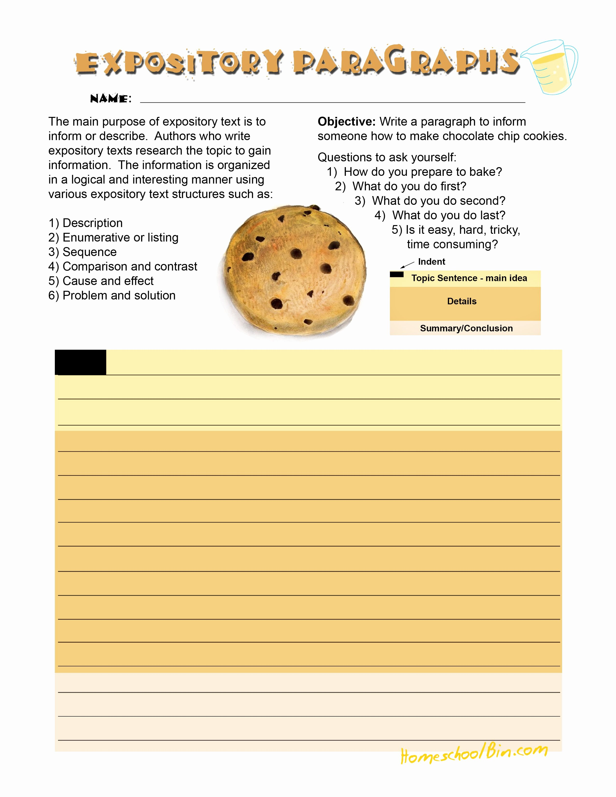 Writing Process Worksheet Pdf Inspirational This is A Fun Expository Writing Worksheet Designed to
