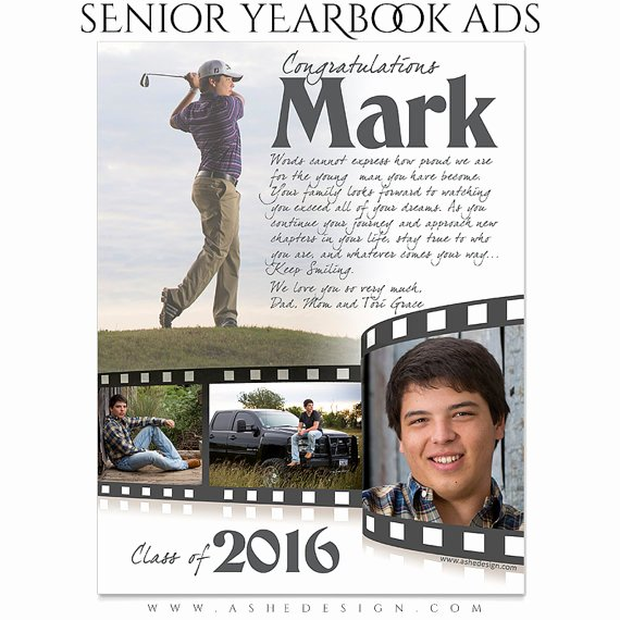 Yearbook Ad Templates Free Download Awesome Senior Yearbook Ads Shop Templates Film Strip High