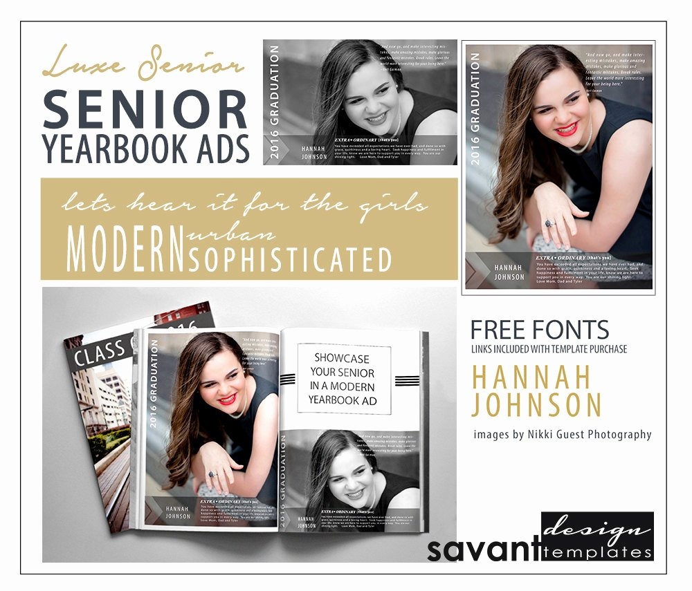 Yearbook Ad Templates Free Download Best Of Yearbook Ads Senior Graduation Shop Templates Luxe