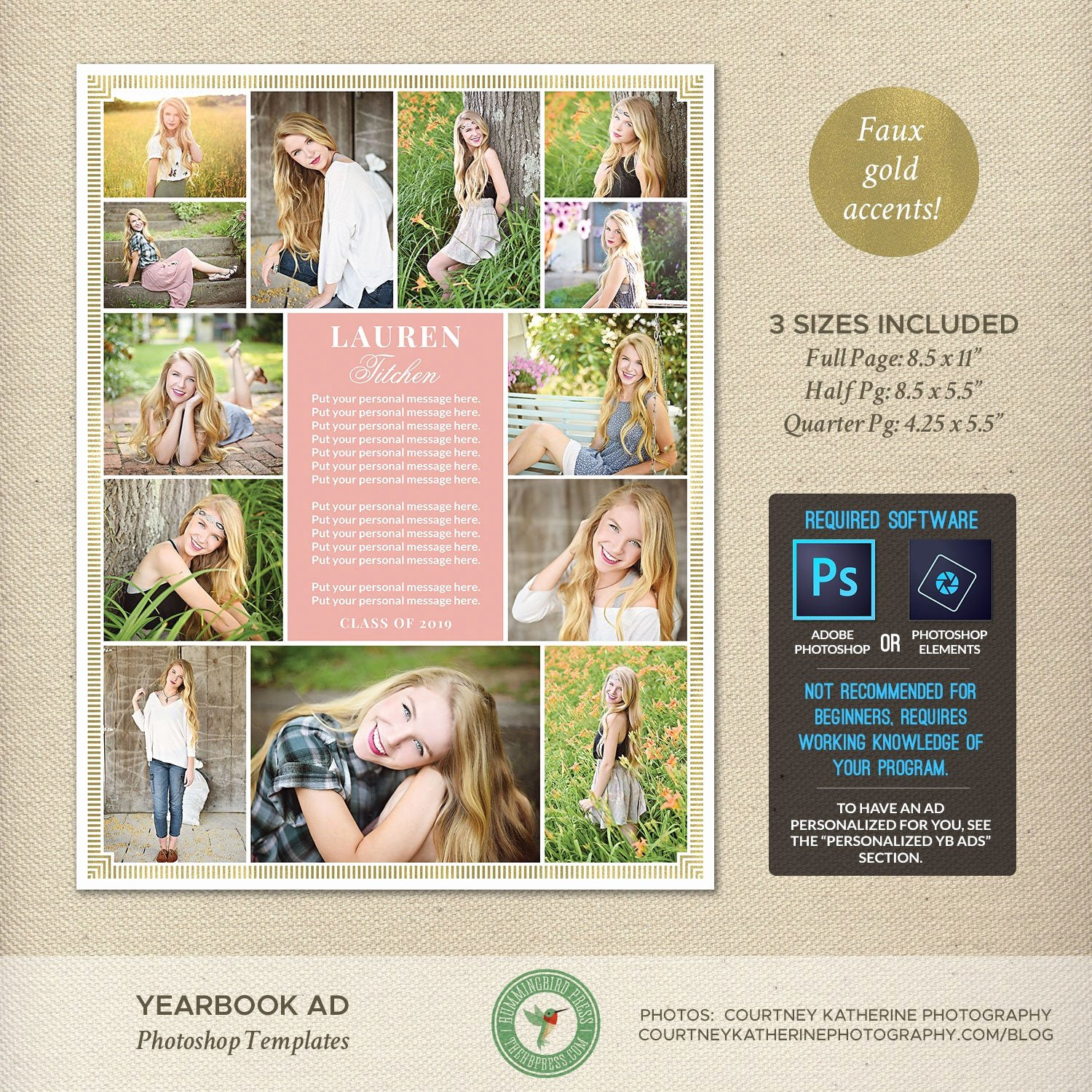 Yearbook Ad Templates Free Download Elegant Senior Yearbook Ad Templates Dedication Tribute Graduation