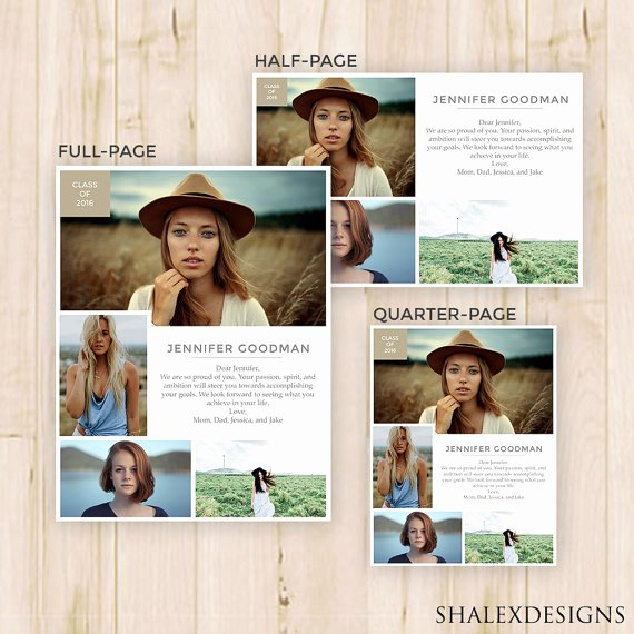 Yearbook Ad Templates Free Download Elegant Senior Yearbook Ads Magazine Style Shop Template Psd