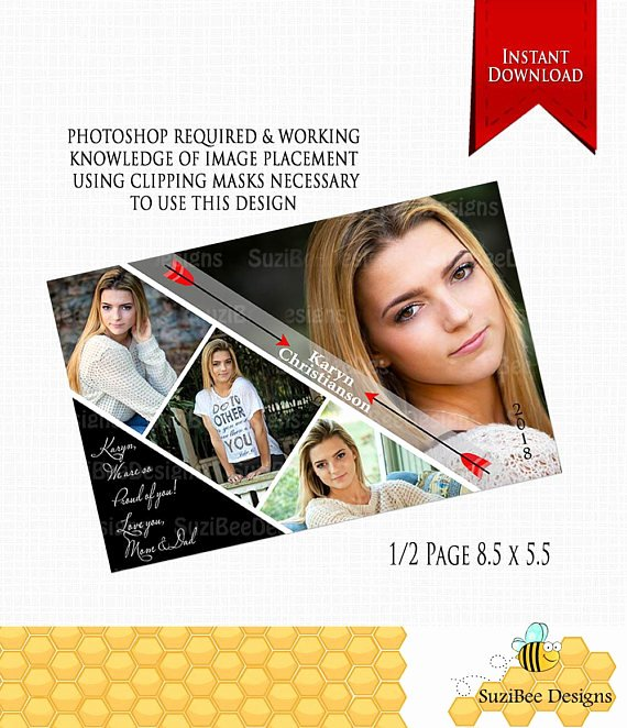 Yearbook Ad Templates Free Download Fresh Downloadable Yearbook Ad Template Half Page Photoshop