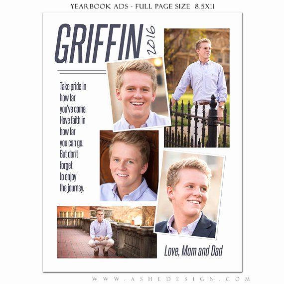 Yearbook Ad Templates Free Download Inspirational Senior Yearbook Ads Shop Templates the Journey High