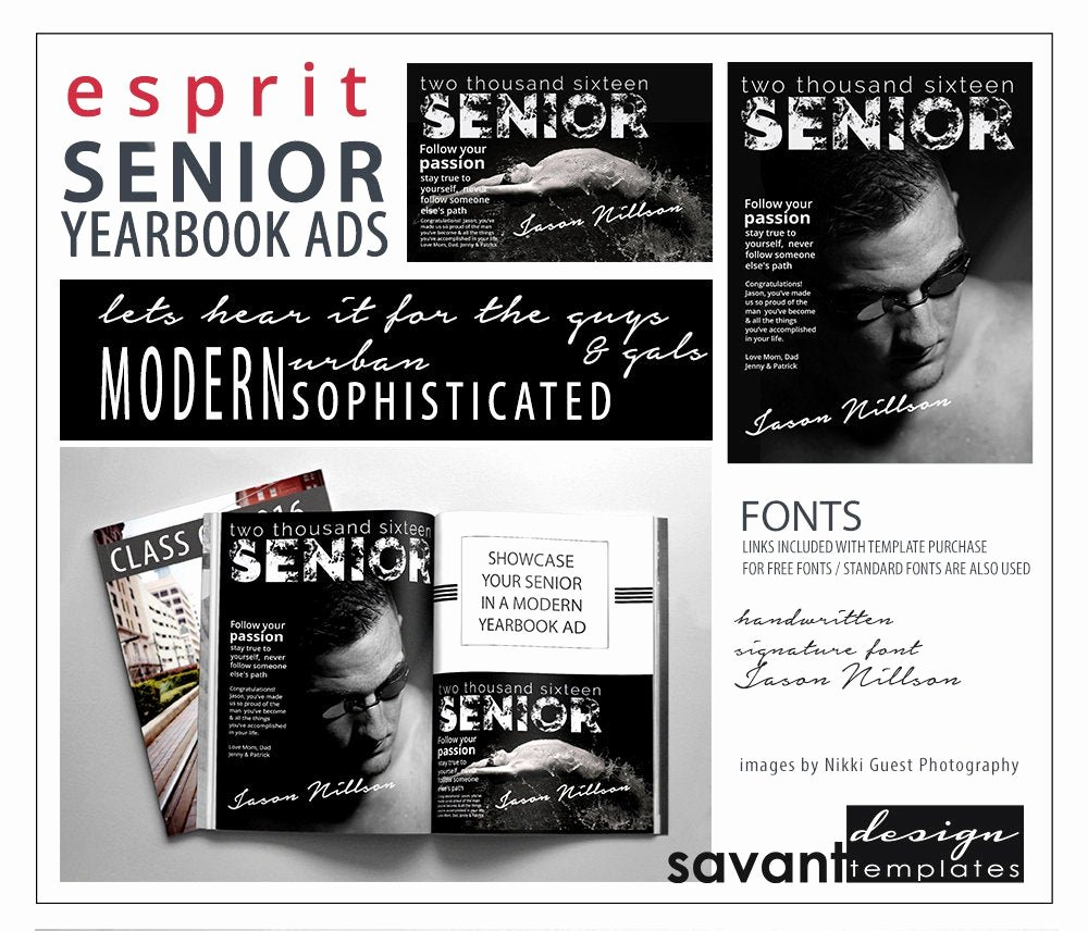 Yearbook Ad Templates Free Download Luxury Yearbook Ads Senior Graduation Shop Templates Esprit