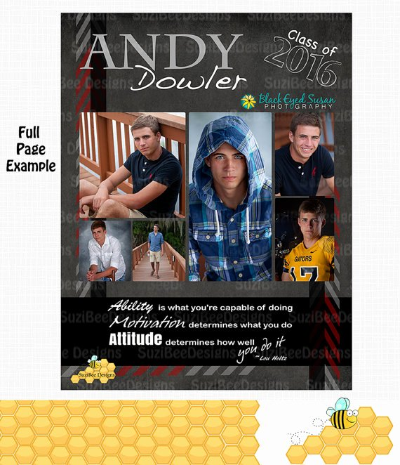 Yearbook Ad Templates Free Download New Masculine Yearbook Ad High School Senior Middle School or