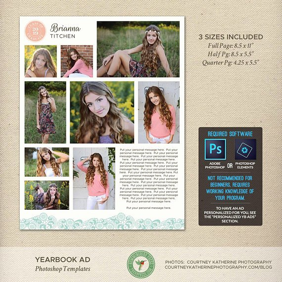 Yearbook Ad Templates Free Download New Senior Yearbook Ad Templates Graduation Dedication