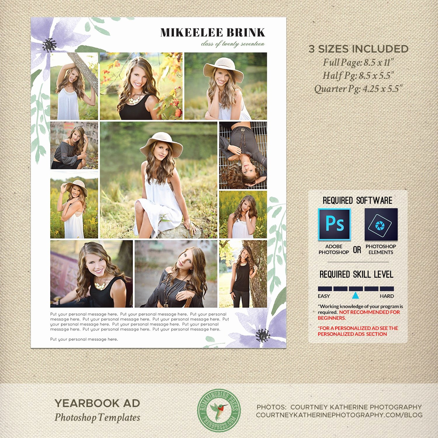 Yearbook Ad Templates Free Download Unique Senior Yearbook Ad Templates Graduation Ad High School