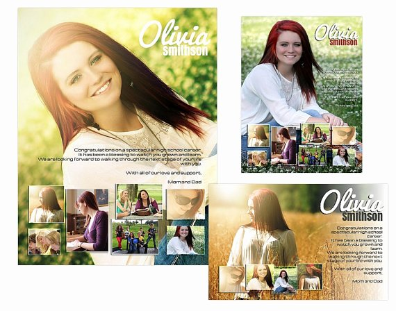 Yearbook Ad Templates Free Download Unique Seniors Yearbook Ads Templates Olivia