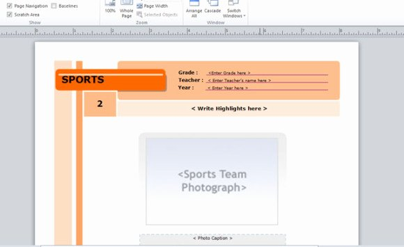 Yearbook Template Powerpoint Awesome Yearbook Template for Microsoft Publisher