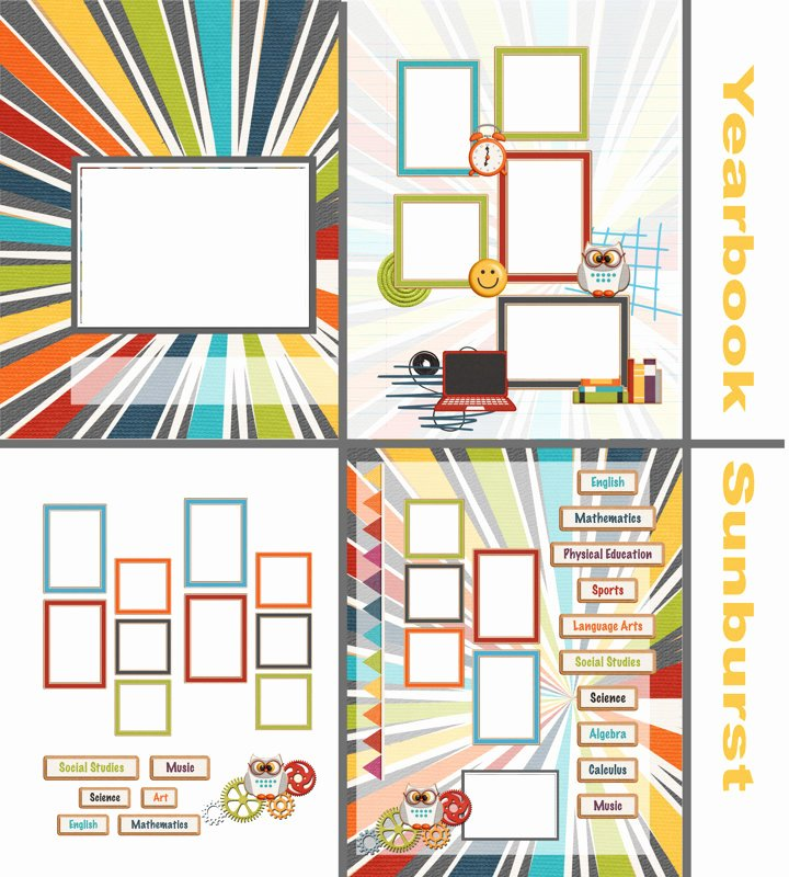 Yearbook Template Powerpoint Elegant Book Template Yearbook Sunburst Quick Album
