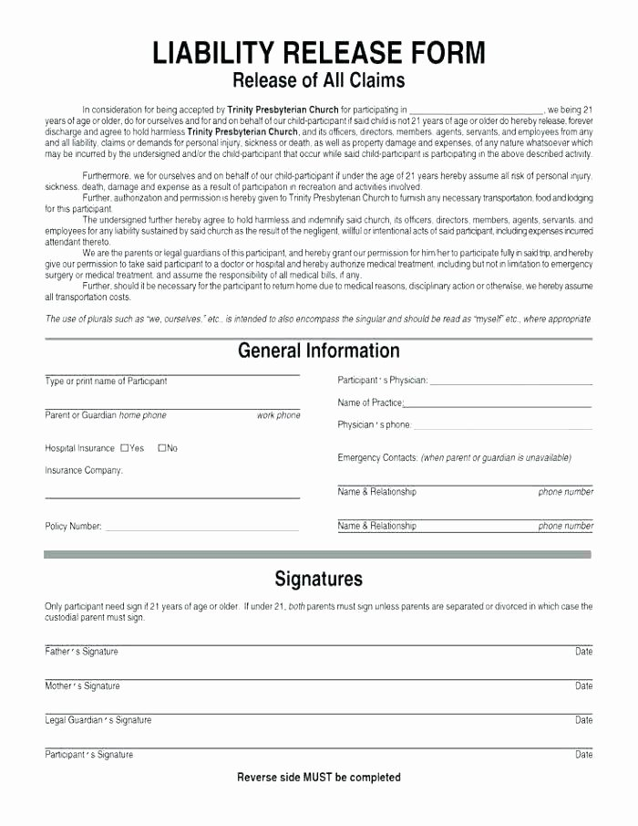 Yoga Release forms Fresh Yoga Waiver form Template Canada – Blog Dandk