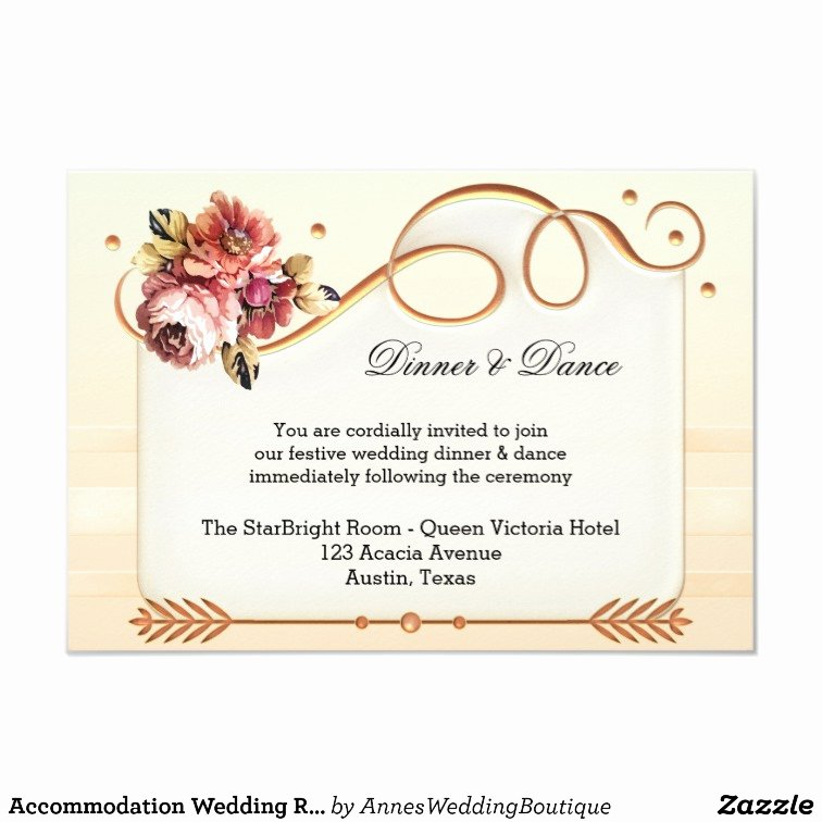 You are Cordially Invited Template Luxury Ac Modation Wedding Reception Insert Invitation