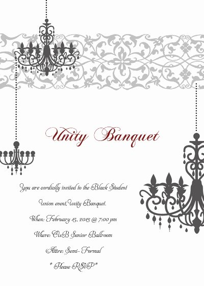You are Cordially Invited Template Luxury Unity Banquet Line Invitations & Cards by Pingg