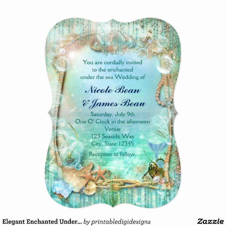You are Cordially Invited Template New Elegant Enchanted Under the Sea Beach Invitations