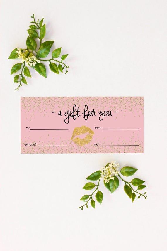 Younique Gift Certificate Template Beautiful Younique Makeup Gift Cards Makeup Vidalondon