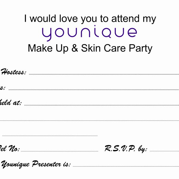 Younique Gift Certificate Template Fresh Younique Party Invitations