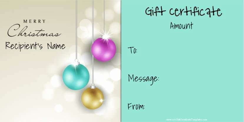 Younique Gift Certificate Template Inspirational Christmas Gift Certificate Templates that Can Be