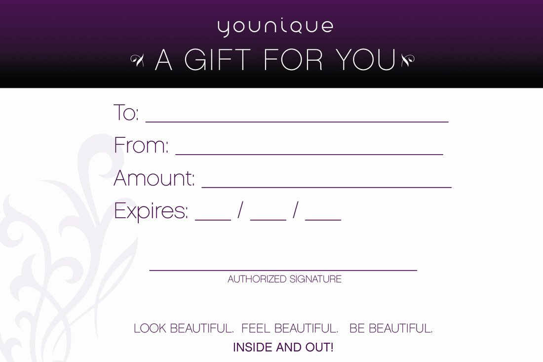 Younique Gift Certificate Template Luxury Younique Makeup Gift Cards Makeup Vidalondon