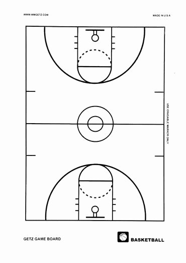 Youth Basketball Court Dimensions Diagram Unique Basketball Full Court Game Board Getz Corporation