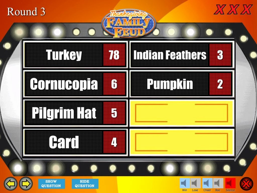 Youth Downloads Family Feud Unique Thanksgiving Family Feud Trivia Powerpoint Game Mac and