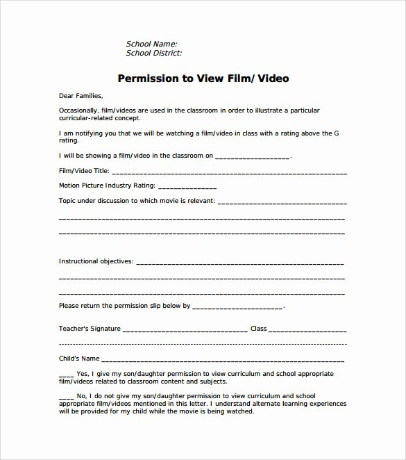 Youth Group Permission Slips Inspirational Permission Slip Template 14 Download Free Documents In