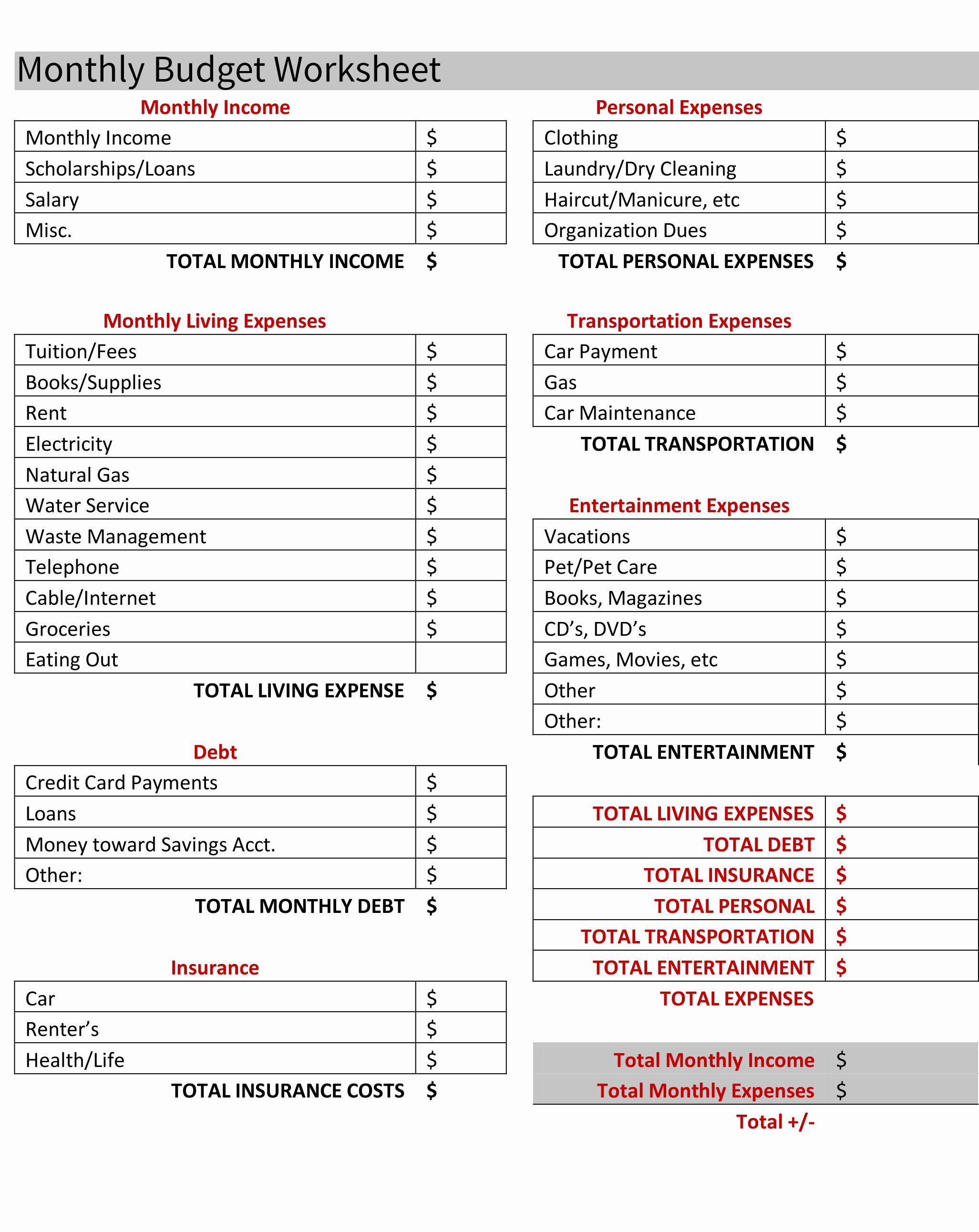 Youth Ministry Budget Template Fresh Bud Ing for Your First Apartment [free Bud Worksheet