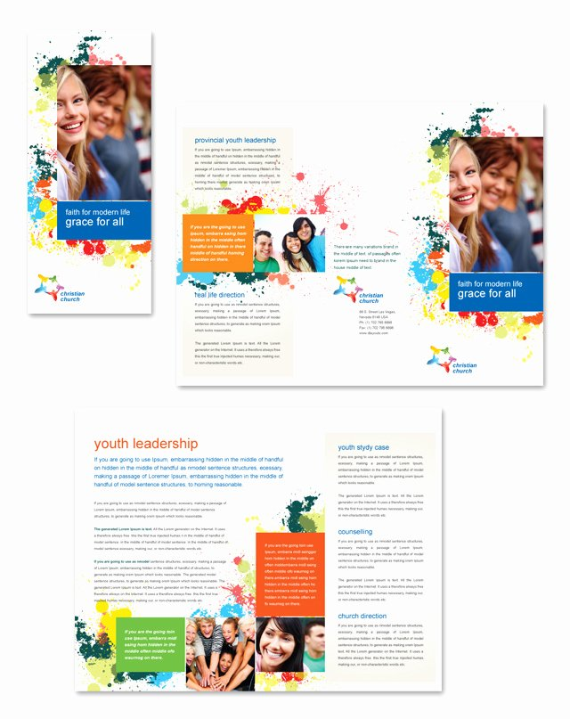 Youth Ministry Budget Template Luxury Church Youth Ministry Tri Fold Brochure Template